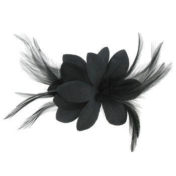 Flower & Feather Brooch Clip